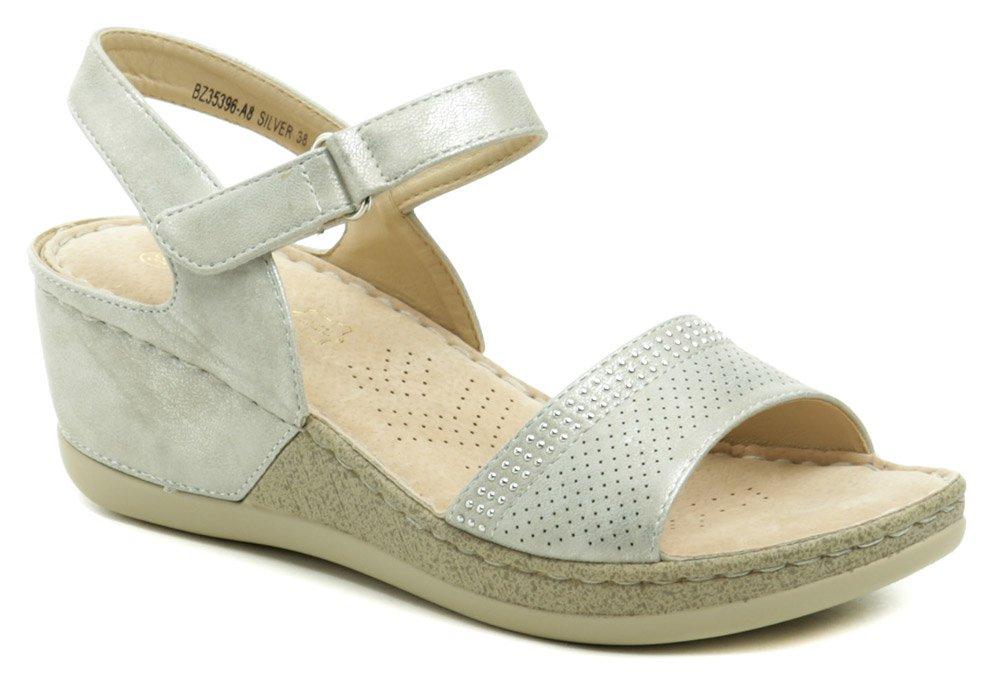 T.Sokolski strieborné dámske sandále na kline 35396-AB EUR 39