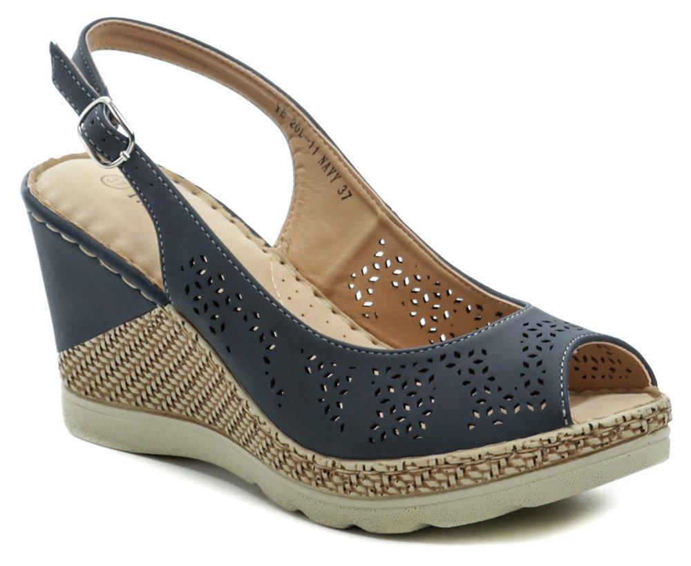 T.Sokolski modré dámske sandále na kline Six 20L-11 EUR 38