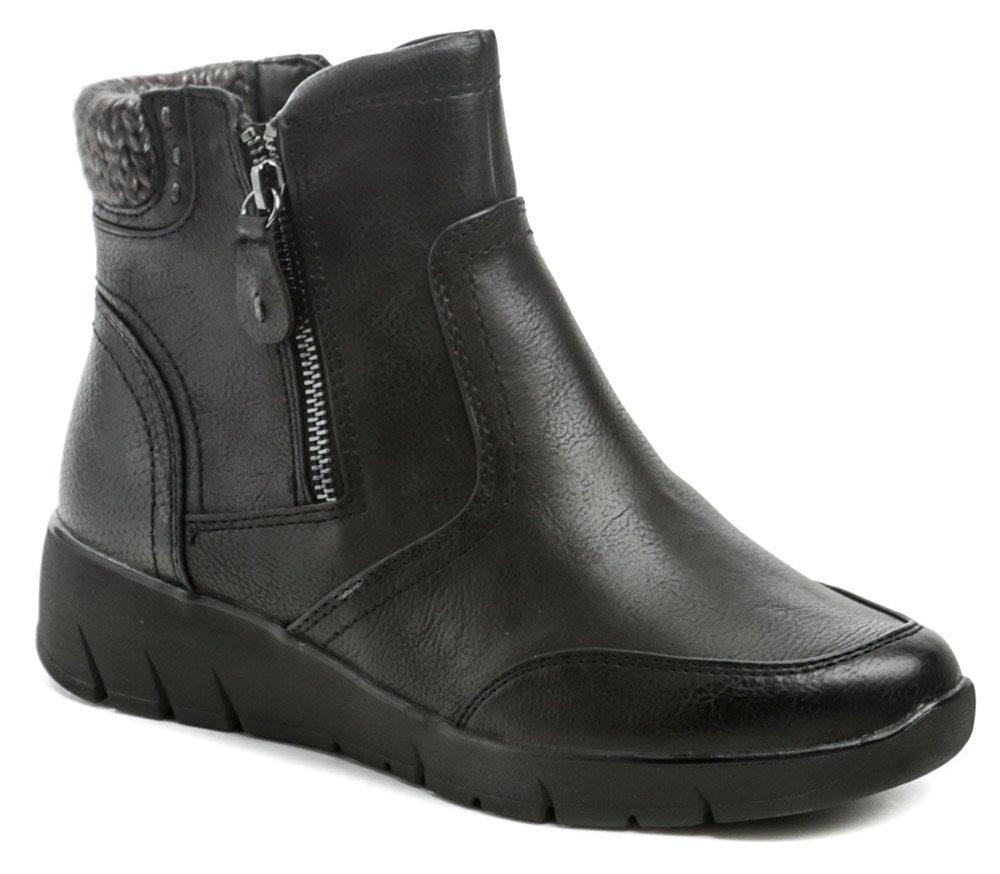 Jana 8-26468-25 čierne dámske zimné topánky EUR 38