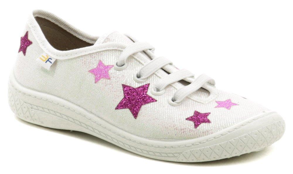 3F detské bielo ružové tenisky s hviezdami 4BL14-4 EUR 31