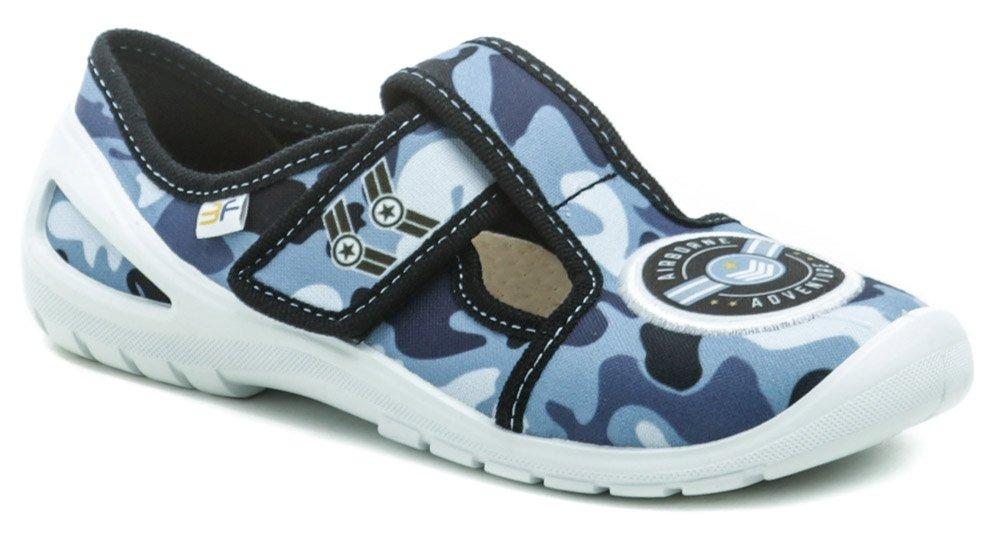 3F detské modré papuče CAMO 4Rx3-8 EUR 32