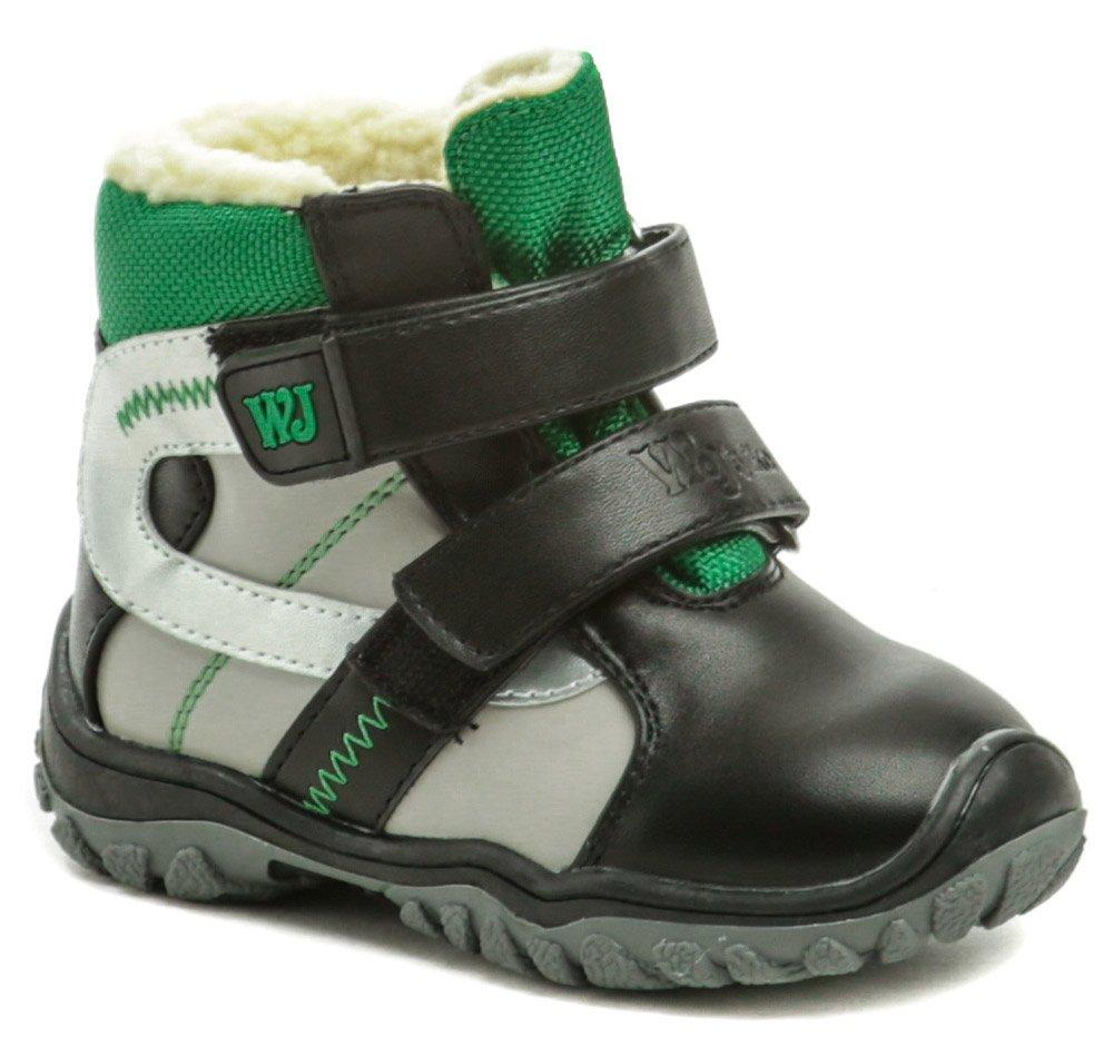 Wojtylko 2Z20088 čierno zelené detské zimné topánky EUR 27