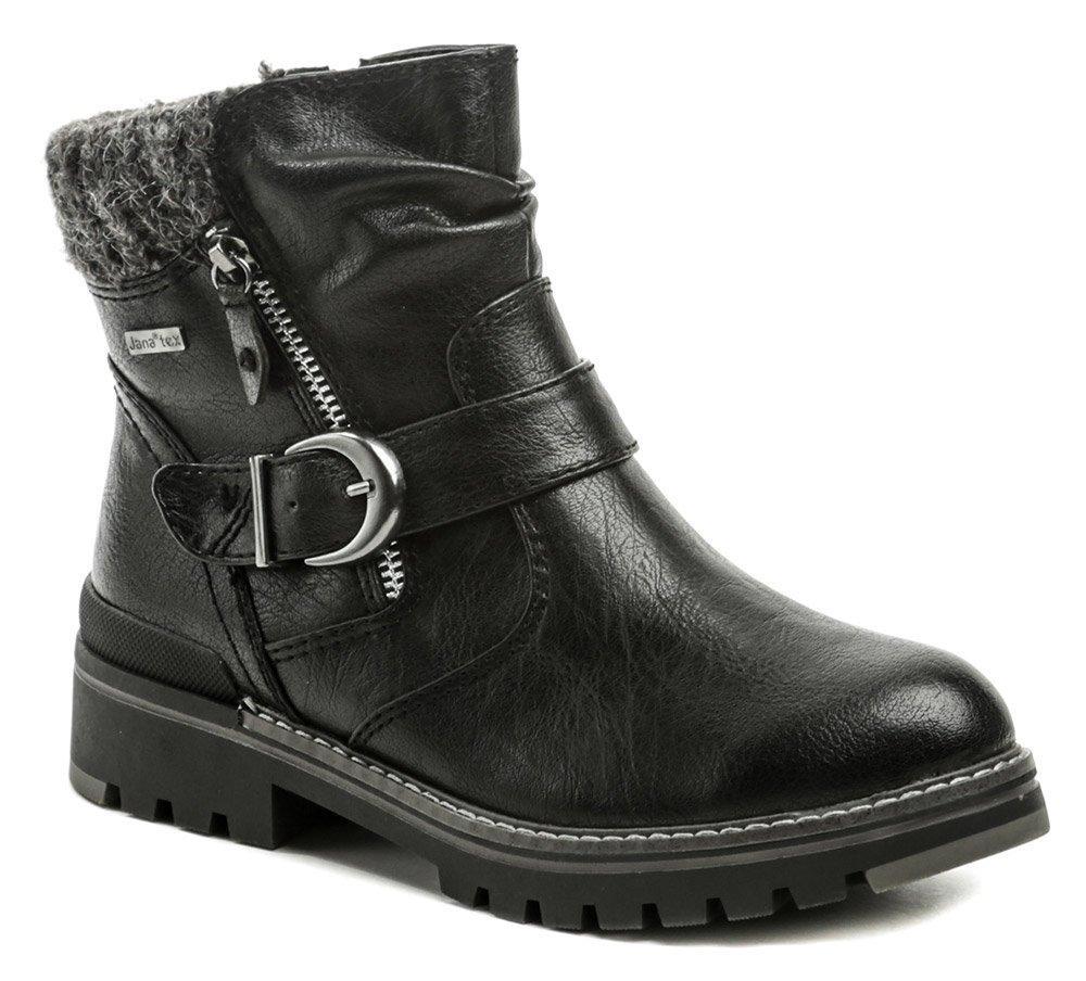 Jana 8-26420-25 čierne dámske zimné topánky EUR 39
