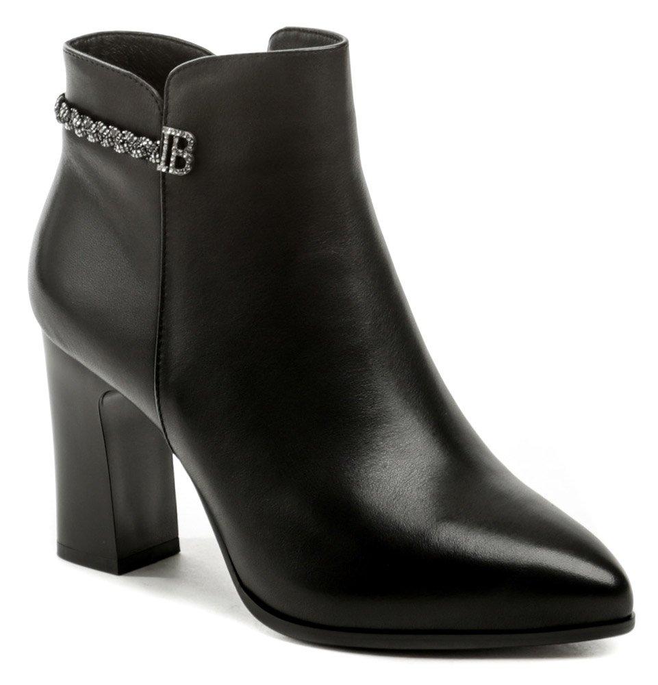 Ladies 9319-13-2 čierne dámske členkové topánky EUR 39
