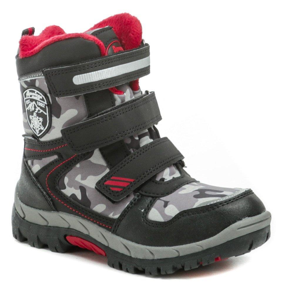 American Club HL21-19 čierno červené detské zimné topánky EUR 27