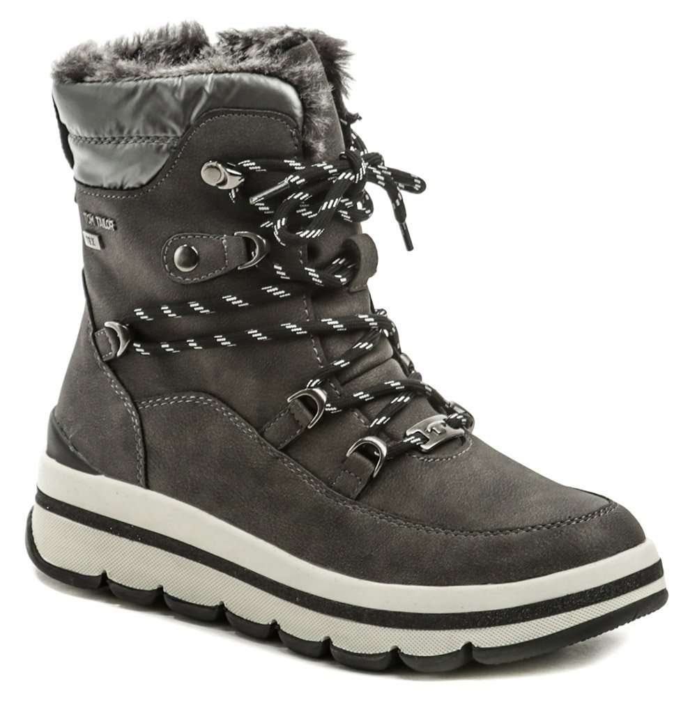 Tom Tailor 9090404 šedé zimné dámske topánky EUR 38