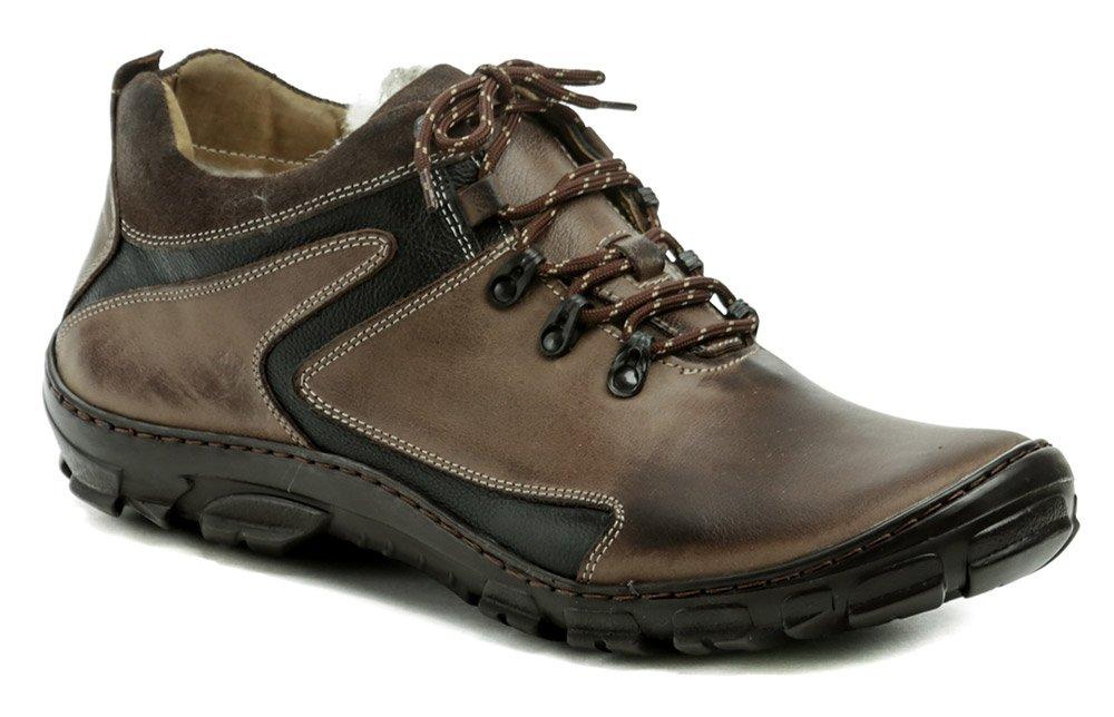 Wawel K905D hnedé pánske nadmerné zimné topánky EUR 48