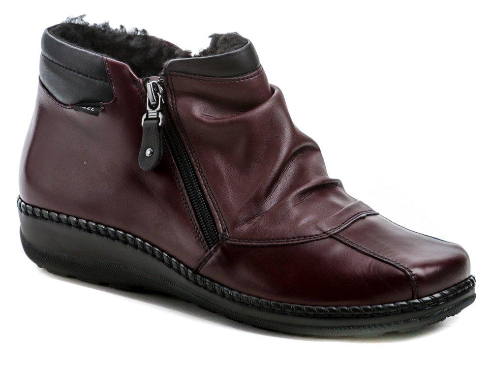 Axel AX1725 bordó dámske zimné topánky šírka H EUR 38