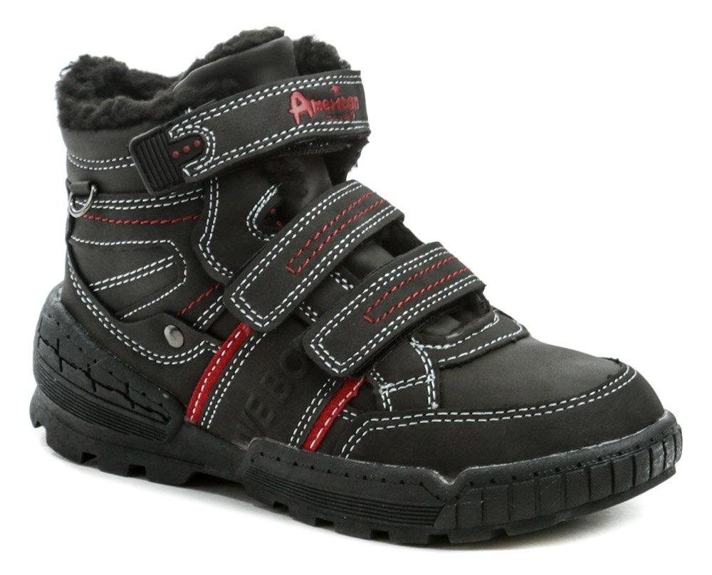 American Club ES51-19 čierne detské zimné topánky EUR 27