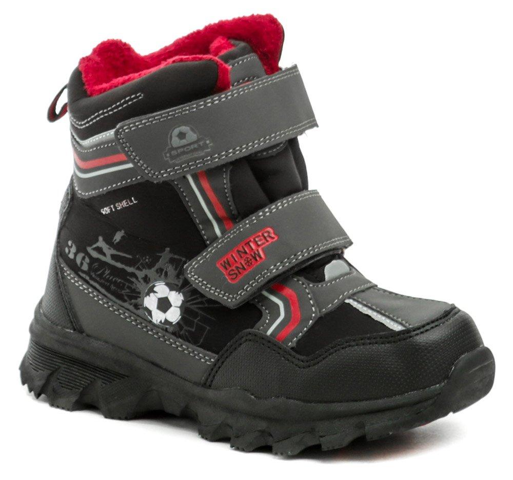 American Club H40-20 čierno červené detské zimné topánky EUR 27