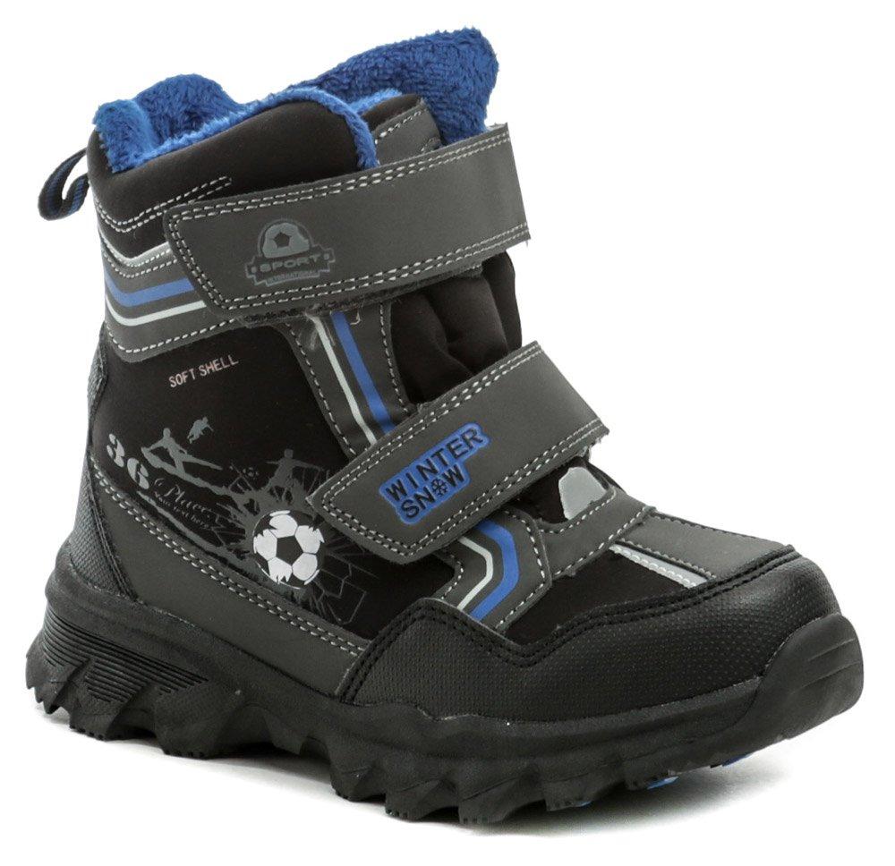 American Club H40-20 čierno modré detské zimné topánky EUR 27
