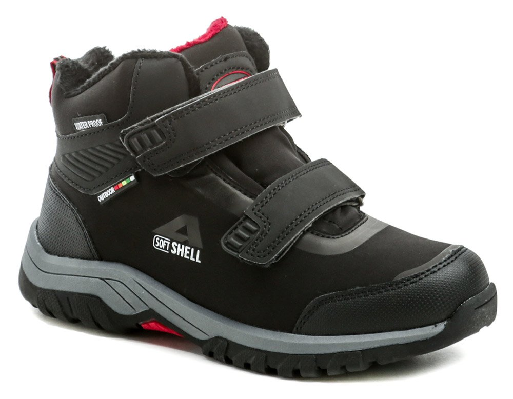 American Club HL33-20 čierno červené detské zimné topánky EUR 35