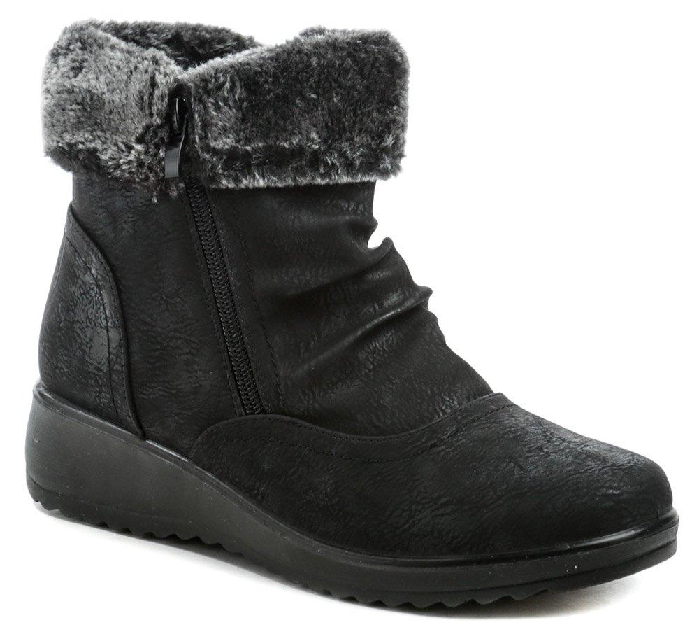Scanda 262-0089-A1 čierne dámske zimné topánky EUR 36
