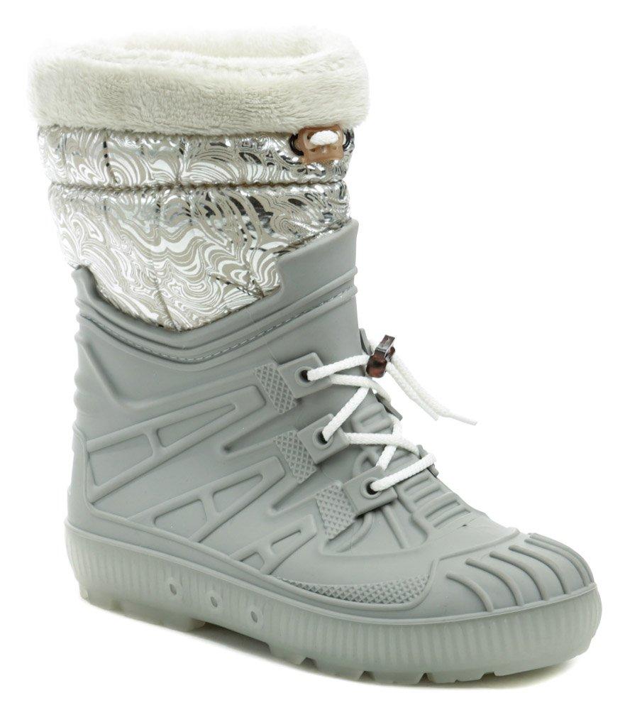 Top Lux 9523 šedo strieborné dámske snehule EUR 36