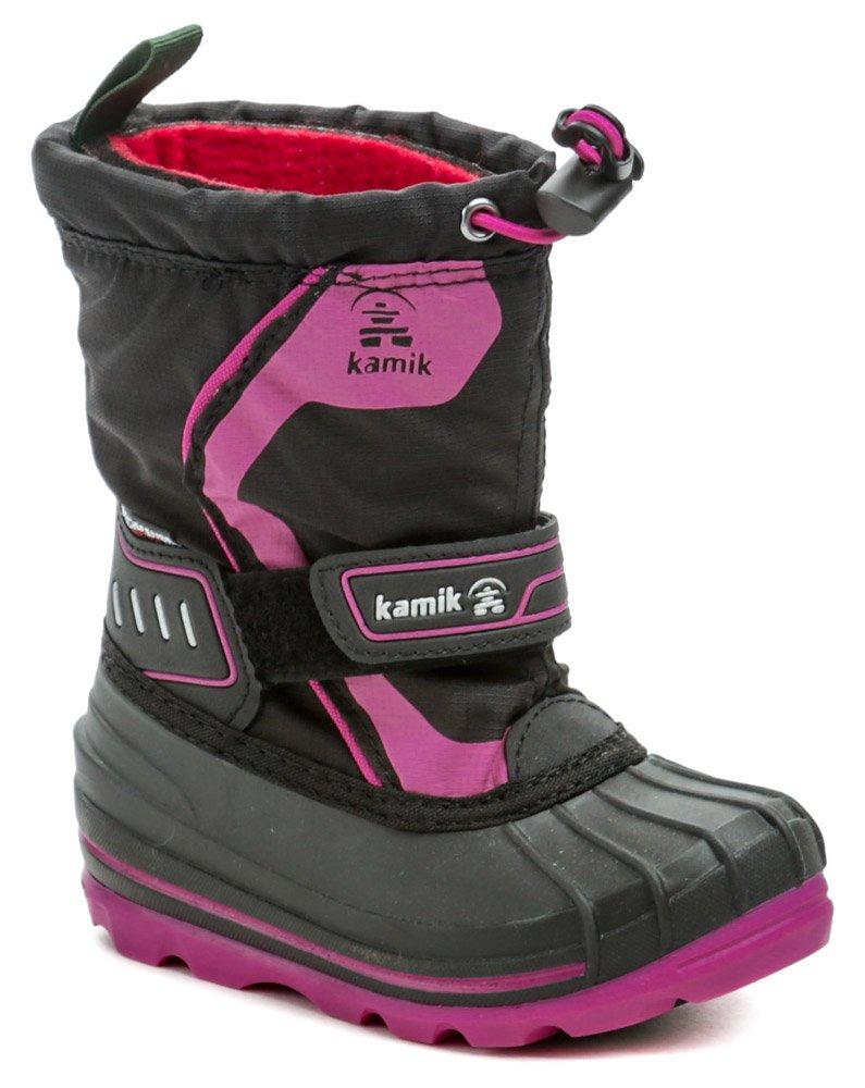 Kamik Snowcoast4 black magenta detské zimné snehule EUR 26
