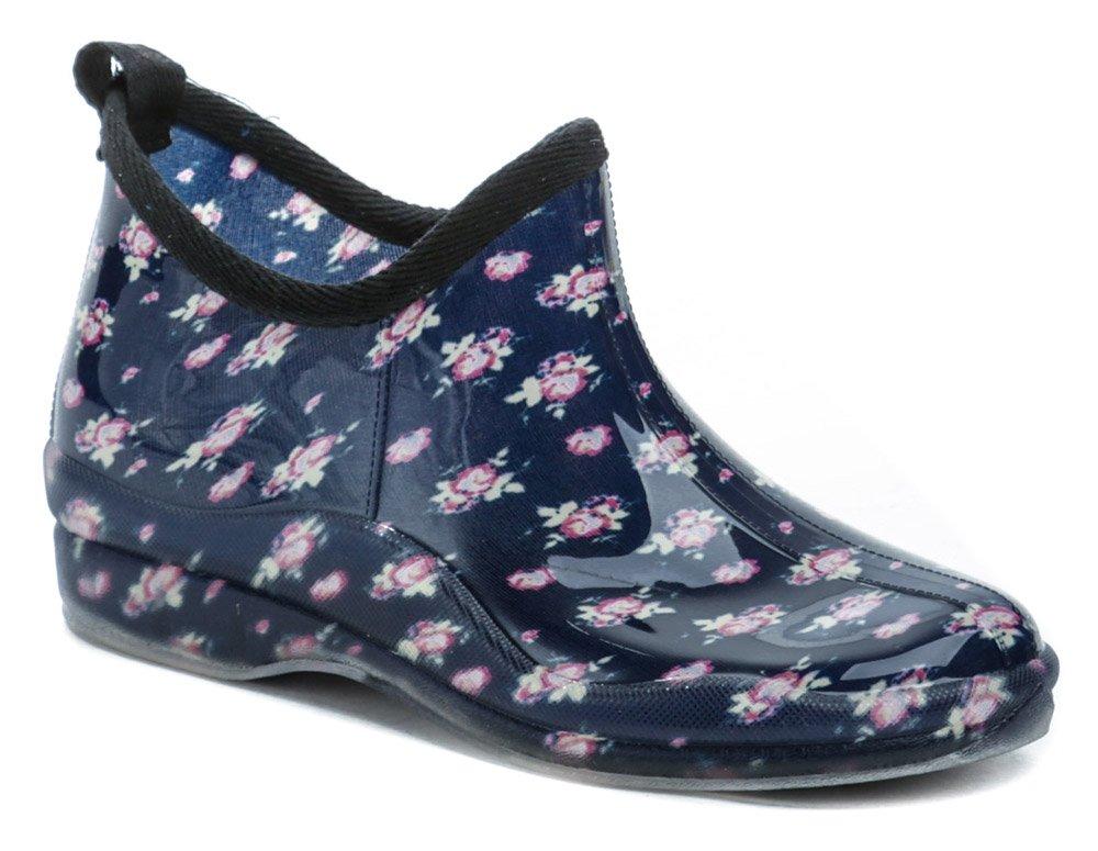 Wojtylko 7G4621G modré kvety nízke dámske gumáky EUR 37