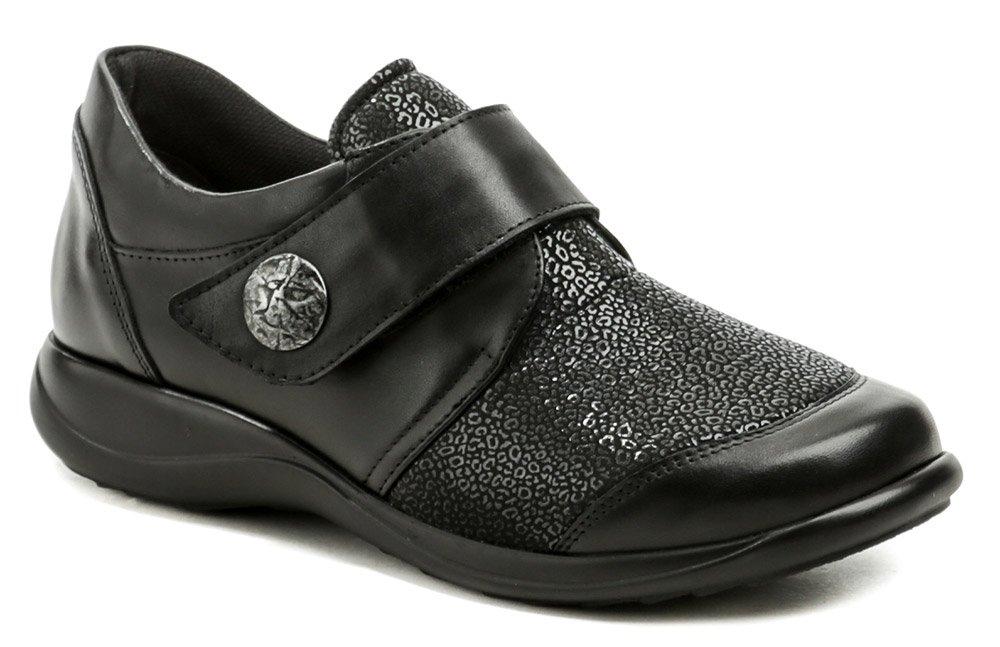 Axel AXCW128 čierne dámske poltopánky topánky šírka H EUR 39