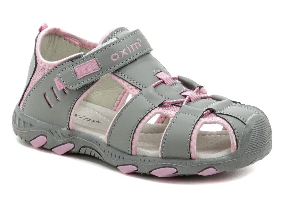 Axim 5S1116 šedo ružové detské sandále EUR 35