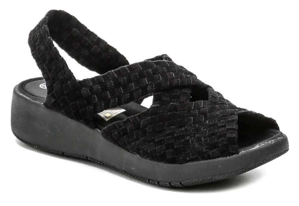 Rock Spring MINILY čierna gumičkova obuv na kline EUR 38