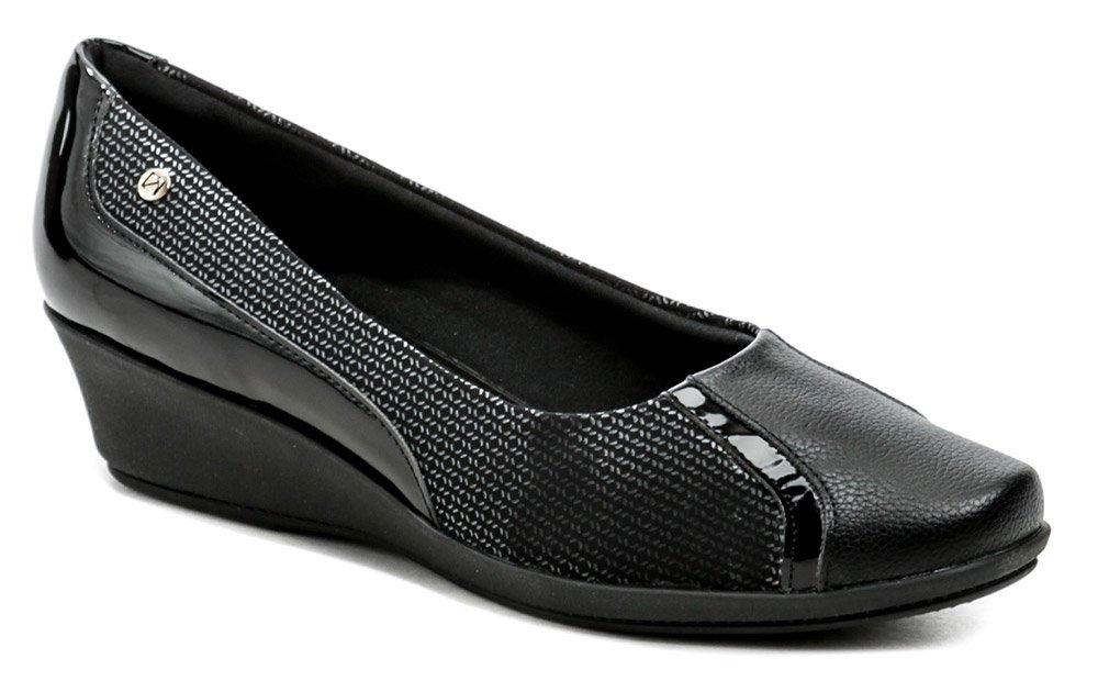 Piccadilly 144074-5 čierne dámske lodičky na klínu EUR 37