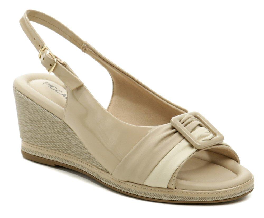 Piccadilly 408166-1 béžové dámske sandále na kline EUR 37