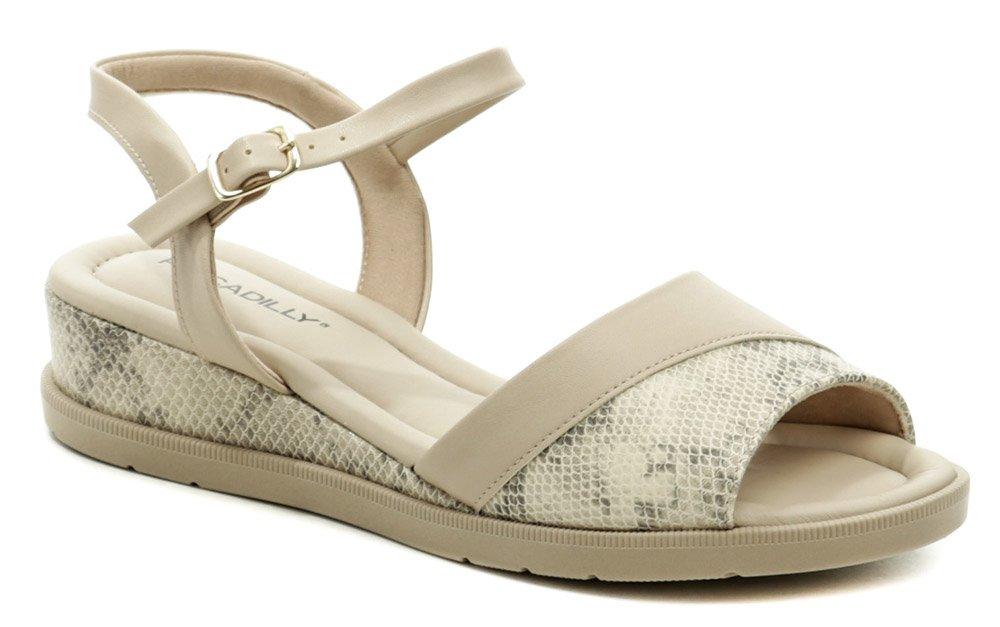 Piccadilly 458013-7 béžové dámske sandále na kline EUR 40