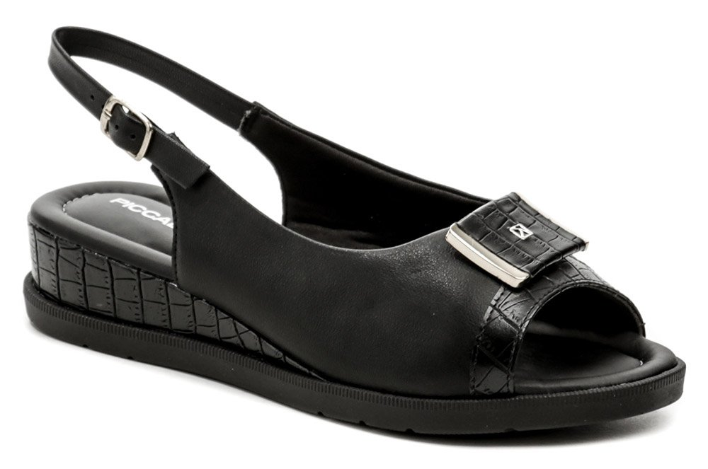Piccadilly 458011-3 čierne dámske sandále na kline EUR 40