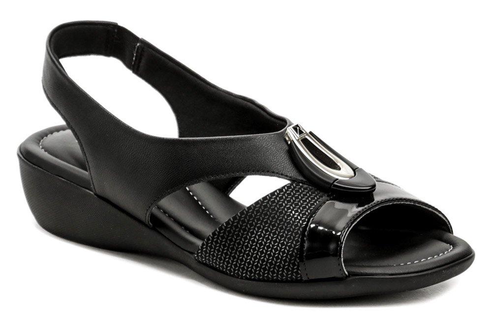 Piccadilly 416086-4 čierne dámske sandále na kline EUR 40