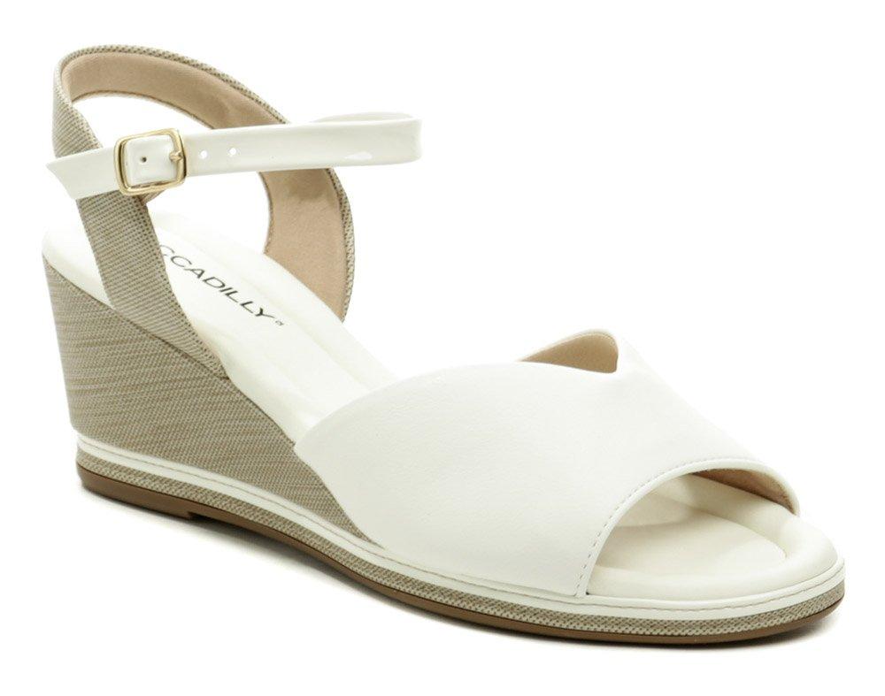 Piccadilly 408167-4 biele dámske sandále na kline EUR 41