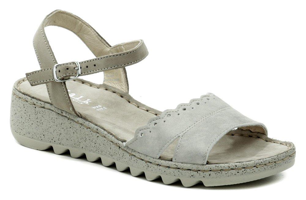 Walk In the city 9371-43820 šedé dámske sandále na kline EUR 40
