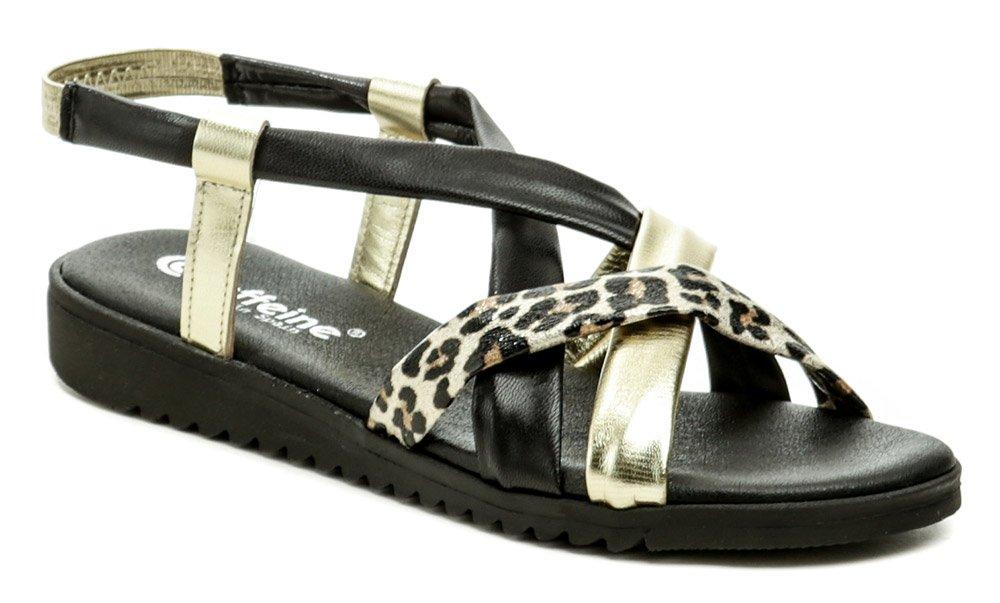 Caffeine 2934 čierno zlaté dámske sandále EUR 38