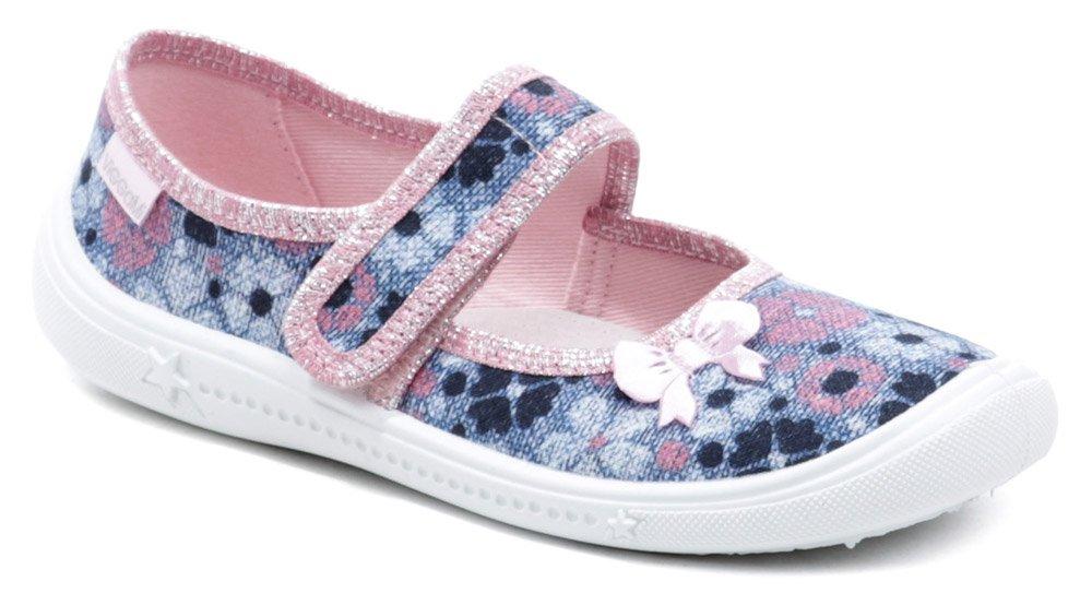 Vi-GGA-Mi detské modro ružové baleríny Greta kvet EUR 33